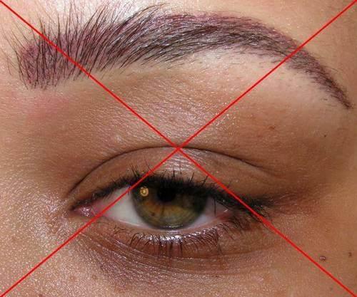 Veel te rode pigment gebruikt voor deze huid