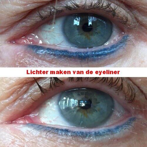 De eyeliner lichter maken